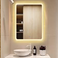 led touch screen bathroom mirror hd