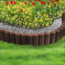 Brown 2 3m Very Strong Garden Fence Lawn Edging Boarder Edge Palisade Fencing Plastic Standard 5