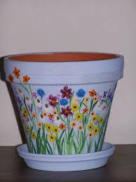 Hand Painted terra cotta pot   Priscilla Hughes   Flickr