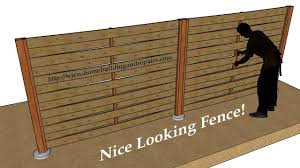 How To Build Wood Fence With Weaving Horizontal Pattern Youtube