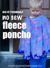 diy no sew fleece poncho for toddlers