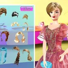 barbie hair styles and dress up game