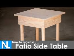 making a patio side table diy