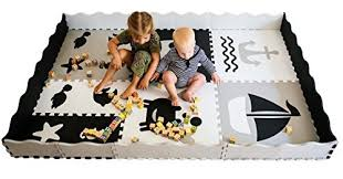 Baby Play Mat With Fence Extra Large 6ftx6ft Interlocking Foam Mat For Kids With Sea Creatures Patterns Crawling Mat For Playroom Nursery Puzzle Mat For Infants Toddlers Kids Wish