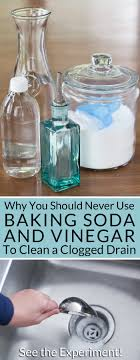 use baking soda and vinegar to clean