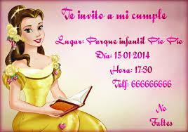 Tarjeta Para Invitaciones De Cumpleanos De Bella Invitaciones De