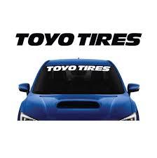 Toyo Tires Windshield Banner Decal Sticker Custom Sticker Shop
