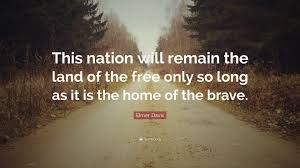 """elmer davis quote """"this nation will remain the land of the"""