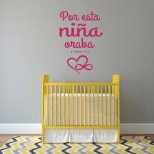 Amazon Com Calcomania Para Ninas 1 Samuel 1 27 Bible Verse Spanish Vinyl Wall Decor Lettering For Baby Girl Nursery Handmade