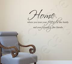 Wall Decal Treat Family Like Friends