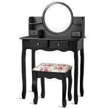 4 drawer makeup vanity table set w
