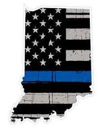 Indiana State U15 Cop Thin Blue Line Vinyl Yeti Tumbler Decal Sticker Ebay
