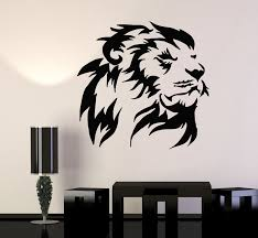 Wall Decal Lion Head Animal Africa Predator King Vinyl Sticker Ed1663 Wallstickers4you