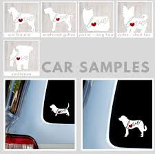 Mini Goldendoodle Labradoodle Love Car Window Vinyl Decal Sticker Script Font Handmade Products Decorative Accessories