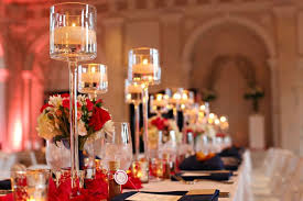 centerpiece tall glass vase