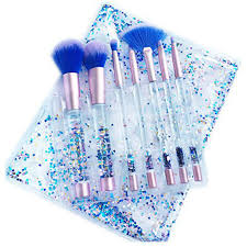 liquid glitter makeup brushes set