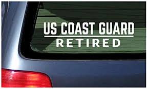 Coast Guard Vinyl Car Decal 20 By 20 Inches Red Itrainkids Com