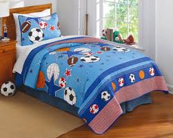 sports and stars boys quilt set twin