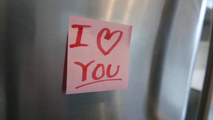 "Image result for i love you note on fridge"""