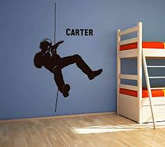Amazon Com Soldier Wall Decal Soldier Wall Decor Soldier Wall Sticker Military Wall Decals For Boys Room Military Wall Art Stickers Decals Ik3780 Handmade