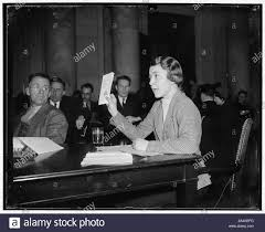 True patriotism. Washington, D.C., March 10. Miss Myrtle Powell, Richmond,  VA., today told the Senate Education and Labor Subcommittee that she would  defend America against all aggressors against our democracy. The statement