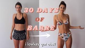 i tried 30 days of barre & this is what ...