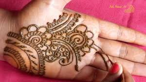 front hand mehndi design simple images