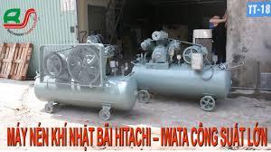 Máy Nén Khí Cũ ] Máy Bơm Hơi Nhật Bãi Hitachi - Iwata Công Suất Lớn 10HP -  YouTube