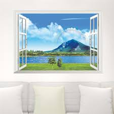 3d Lake Mountain Window Wall Sticker Simply Adore