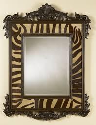 carved parisian walnut finish mirror