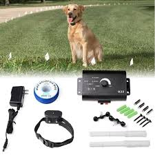 Safety Pet Perimeter Hidden Electric Containment Fence Systems With Waterproof Shock Receiver Collar Invisible Electric Dog Fence Wireless Fence Wish