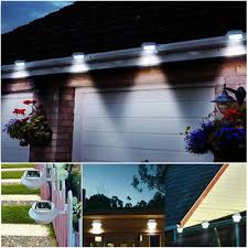 1 2 5x Led Outdoor Solar Powered Led Fence Lights Wall Yard Lamp Garden Outdoor