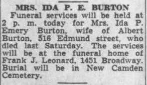 Ida Parker Burton (nee Emory) - Newspapers.com