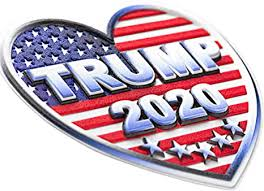 Amazon Com Trump Sticker 2020 Bumper Decal 5 In Pack Heart Shape American Flag Decals 3d Vinyl Patriotic President Car Stickers Size 3 5 X 3 5 Perfect For Jeep Ford Ram