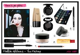 morticia addams makeup step by step