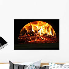 Amazon Com Wallmonkeys Fire Wall Decal Peel And Stick Graphic Wm256004 24 In W X 16 In H Home Kitchen
