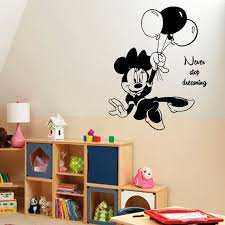 Shop Mouse Never Stop Dreaming Quotes Baby Kids Wall Decor Art Girl Boy Nursery Room Decor Sticker Decal Size 48x48 Color Black Overstock 14615413