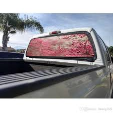 2020 Cherry Blossom Rear Window Graphic Decal Sticker Car Truck Suv Trees Flowers From Letong168 36 19 Dhgate Com