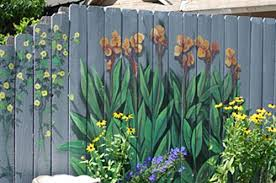 Pin By Alice Kinzie On How Does Your Garden Grow Fence Art Garden Mural Backyard Fences