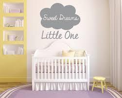 Amazon Com Sweet Dreams Little One Cloud Vinyl Wall Art Sticker Mural Decal Home Wall Decor Children S Bedroom Nursery Playroom Handmade