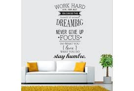 Home Living Beauty Wall Decals Work Hard Dream Big Quotes Letters Stickers Home Decor Diy Wish
