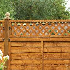 Forest 6 X 1 Diamond Lattice Trellis Fence Topper 1 83m X 0 3m Buy Fencing Direct