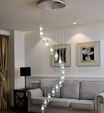 long large diamond crystal lighting