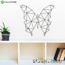 Large Size Geometric Butterfly Wall Decal Sticker Vinyl Removable Wall Stickers For Kids Room Girl Bedroom Nursery Wall Art Black Wall Decals Black Wall Stickers From Joystickers 9 59 Dhgate Com