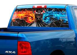 Product Ffirefighters Broken Glass Flame Rear Window Decal Sticker Pick Up Truck Suv Car