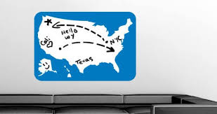 Us Map Whiteboard Wall Decals Dezign With A Z
