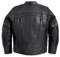 fxrg leather jacket with pocket system