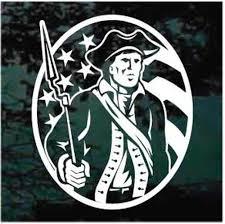 American Patriot Minuteman Decals Stickers Decal Junky