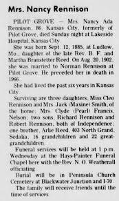 Nancy Ada Reed Rennison, Obit - Newspapers.com