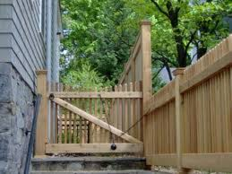 Gate With Drop Pulley Front Yard Fence Fence Landscaping Brick Fence